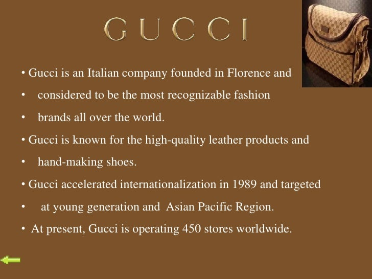 Gucci mission statement