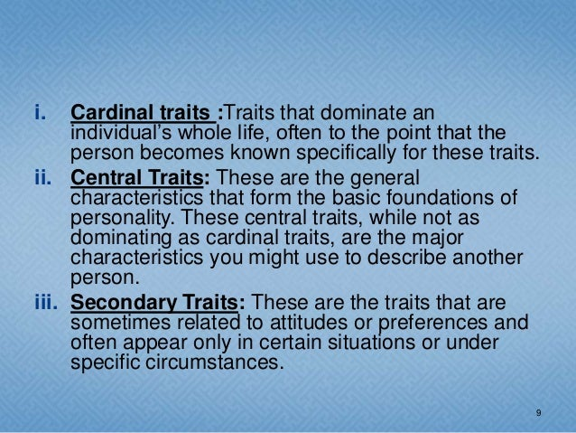 what is a central trait