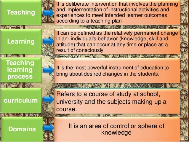 meaning of teaching and its relationship with learning learner