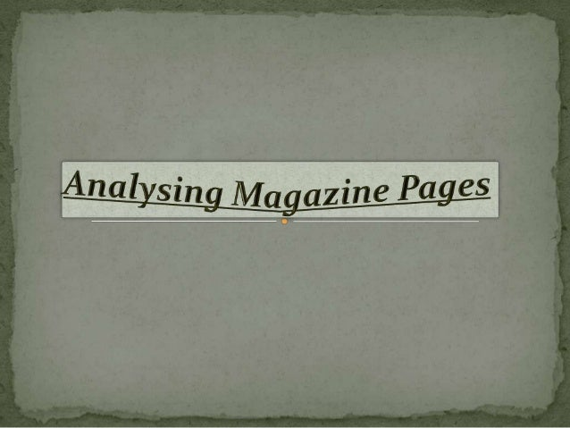 Skyline: The content information going across theMasthead: It is bold                        top of the magazine in one lo...