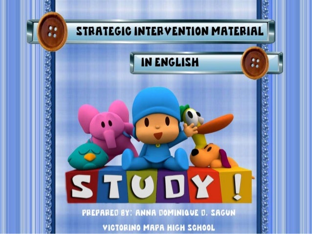 Stratetic Intervention Material In English (Infinitives)