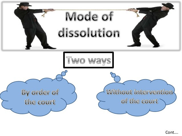 dissolution and winding up