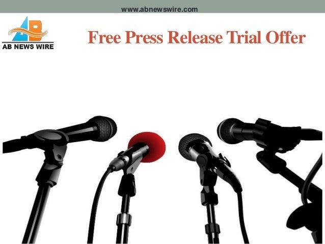 www.abnewswire.comFree Press Release Trial Offer