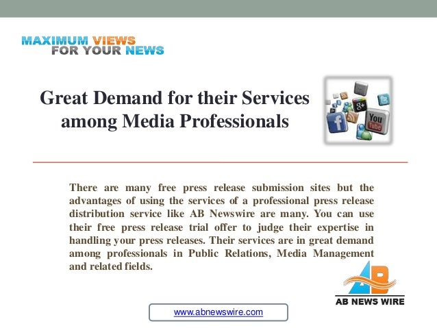 Free News Wire Services | Free Press Release Trial Offer