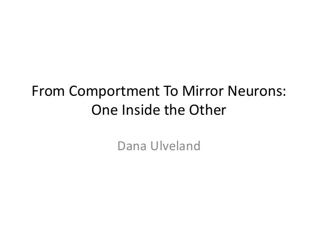 From Comportment To Mirror Neurons:       One Inside the Other           Dana Ulveland