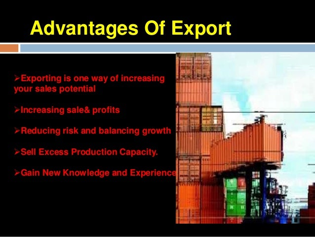 thesis on export import Exports growth builds import capacity and industries engaged in exports  and  journals which i consulted and referred during the compilation of this thesis.