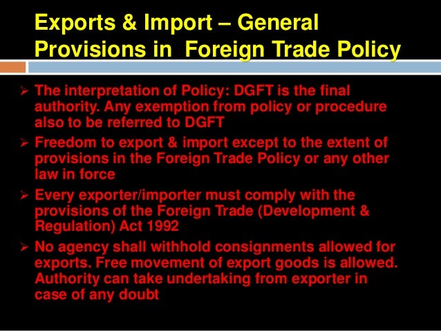 Specific ProvisionsFree exportsAll exports in freely convertible currency except in specific situationsRealization of e...