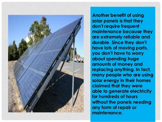 5 Reasons Why You Should Install Solar Panels And Use