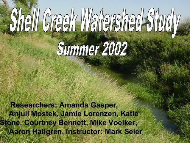 Researchers: Amanda Gasper,  Anjuli Mostek, Jamie Lorenzen, KatieStone, Courtney Bennett, Mike Voelker,  Aaron Hallgren, I...