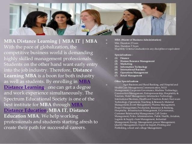 MBA Distance Learning Slide 3