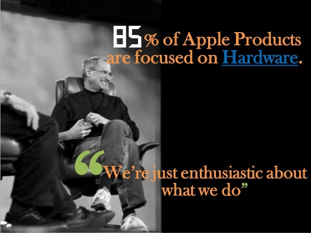 While   90% of Microsoftproducts are focused onSoftware.