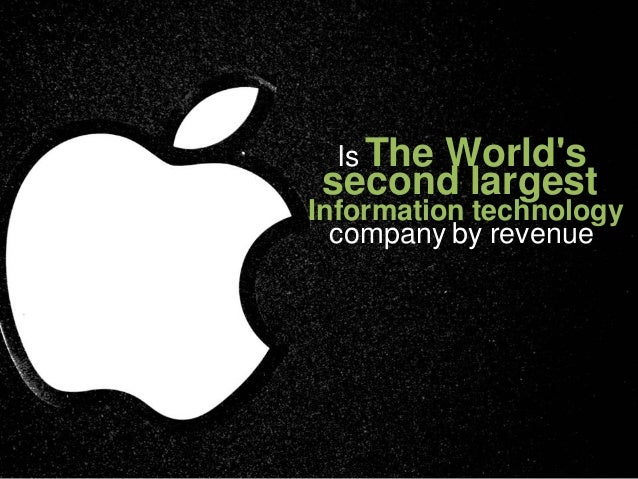 Is The     Worldssecond largestInformation technology  company by revenue