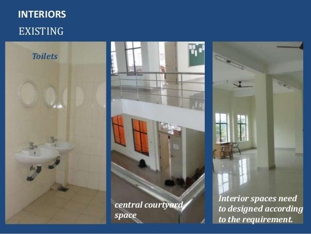 INTERIORSEXISTINGToiletscentral courtyardspaceInterior spaces needto designed accordingto the requirement.