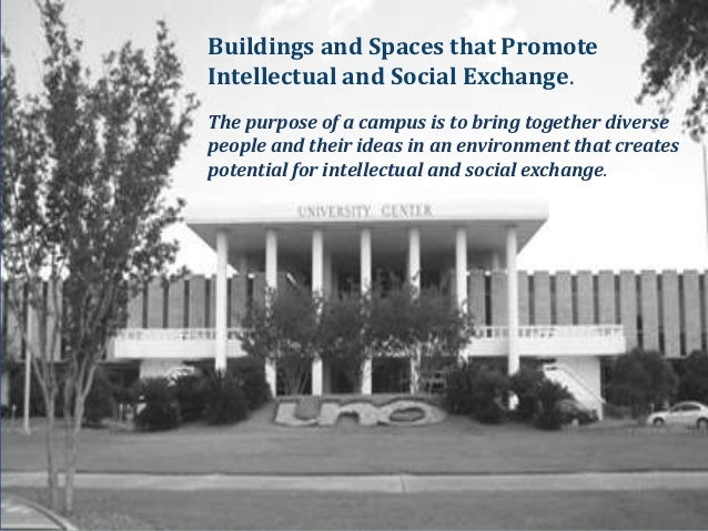 Buildings and Spaces that PromoteIntellectual and Social Exchange.The purpose of a campus is to bring together diversepeop...