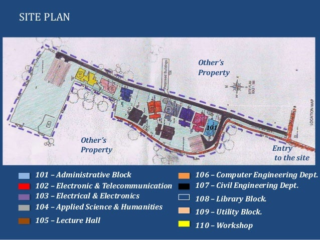 SITE PLAN101 – Administrative Block102 – Electronic & Telecommunication103 – Electrical & Electronics104 – Applied Science...