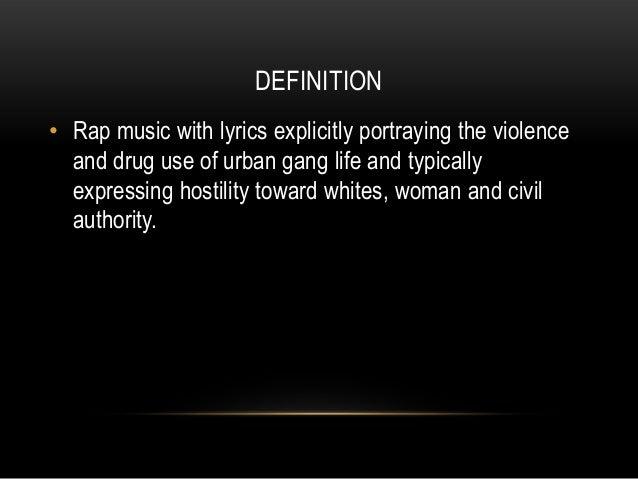 does rap music promote violence Does rap or rock music provoke violent behavior - download as pdf file (pdf), text file (txt) or read online  to rap music could cause violent attitudes and.