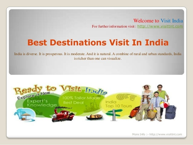 Welcome to Visit India For further information visit : http://www.visittnt.com Best Destinations Visit In India India is d...