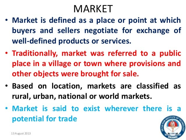 forms of markets Most market forms given below talk about a homogeneous product   monopolistic competition, also called competitive market: there are a large  number of.