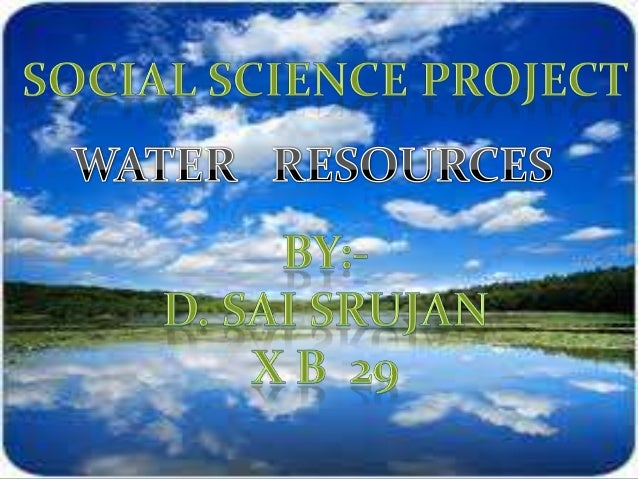 INTRODUCTION :- Water resources are sources of water that are useful or potentially useful. Uses of water include agricult...