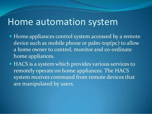 Pc based home automation system project