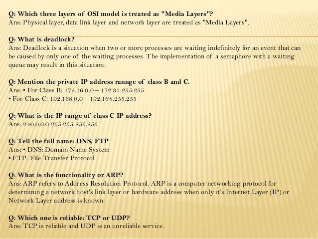 network layer packet 6 - Network Engineer Interview Questions And Answers