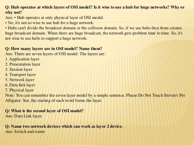 Network Engineer Interview Questions with Answers