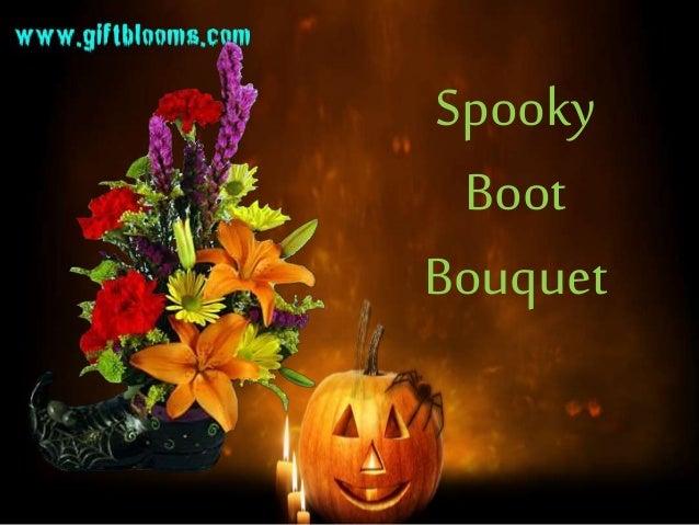 spooky boot bouquet