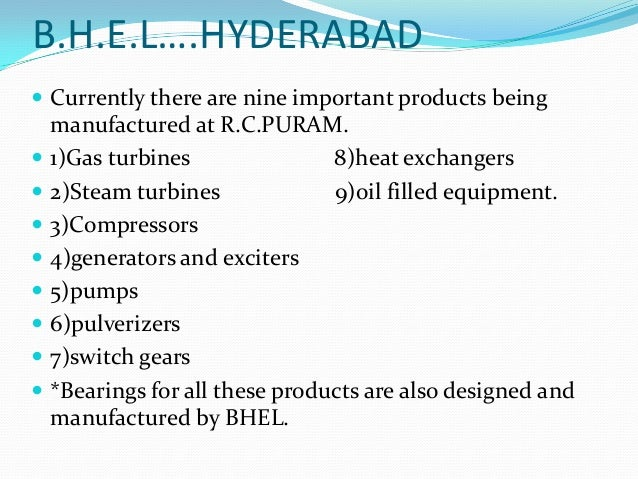 Bearing design for Turbo Generator- Internship at BHEL