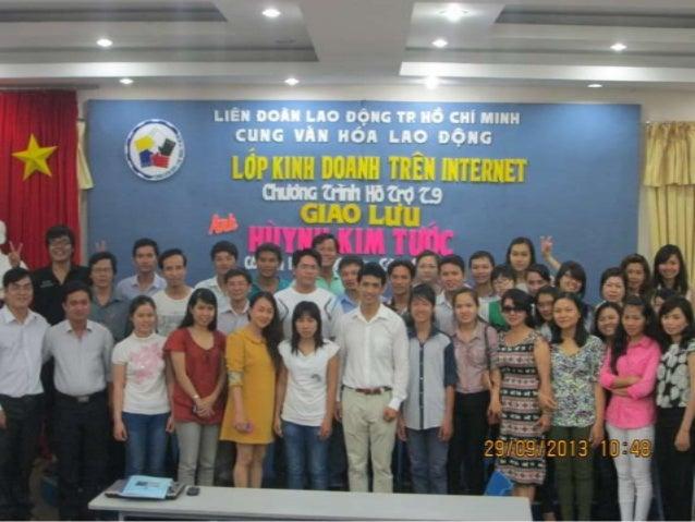 Chương trình hỗ trợ tháng 9/2013 : Giao lưu anh Huỳnh Kim Tước, cố vấn toàn cầu Facebook