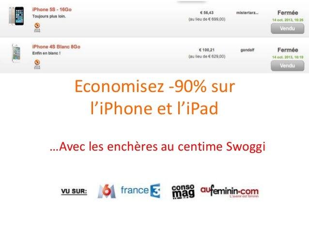 Economisez -90% sur l'iPhone et l'iPad …Avec les enchères au centime Swoggi