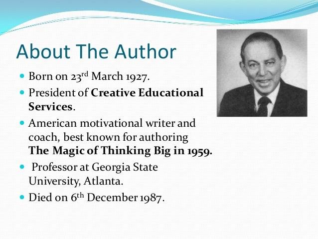 The Magic of Thinking Big: Summary in PDF