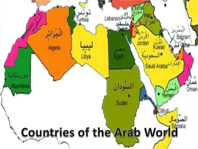 The Arab World – Map Arab Countries
