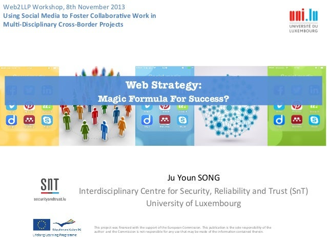 Web2LLP  Workshop,  8th  November  2013   Using  Social  Media  to  Foster  Collabora4ve  Work  in...