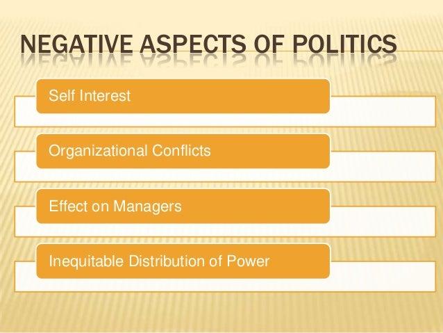negative effects of organizational politics