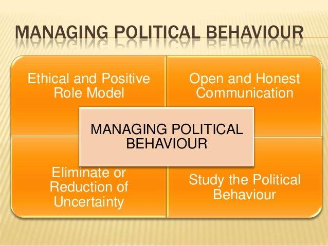 managing political behaviour in organisations