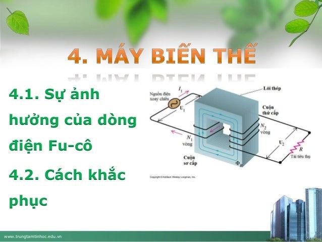 4.1. Sự ảnh hưởng của dòng  điện Fu-cô 4.2. Cách khắc  phục www.trungtamtinhoc.edu.vn