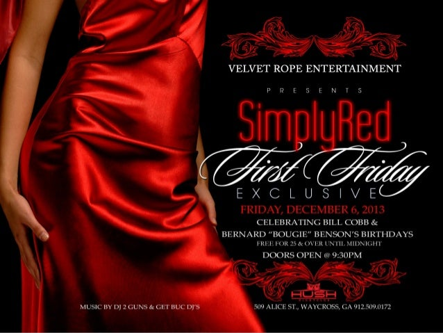 First Fridays Simply Red Exclusive