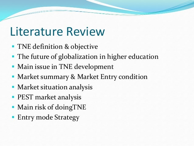 review of related literature on marketing strategy Does not take sufficient time to define and identify the most relevent sources to use in the literature review related to the vectors is a key strategy for.