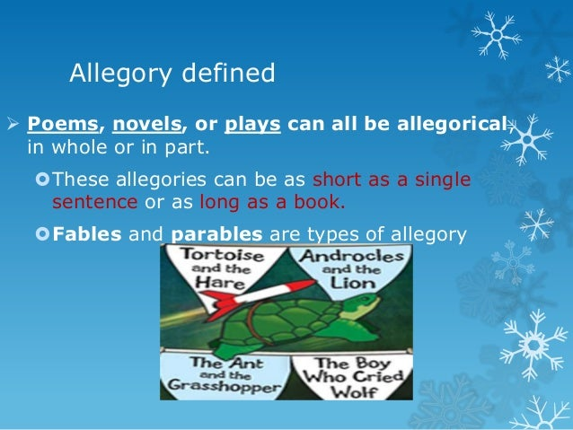 how to use allegory in a sentence
