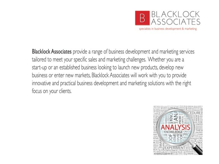 Blacklock Associates Ltd Slide 2