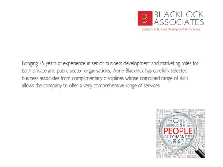 Blacklock Associates Ltd Slide 3