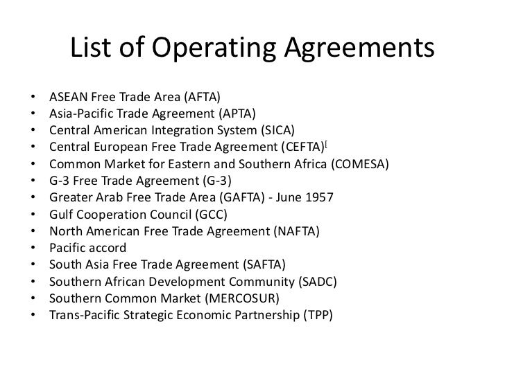 Wto list of operating agreements platinumwayz