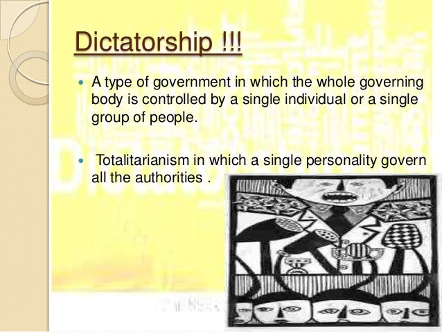 democracy and dictatorship 10 dictatorship is an illegal form of government
