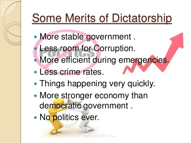 a comparison between democratic and dictatorial types of government Democratic and autocratic rulers alike must use a bureaucracy to implement  policy  compare two extreme pure or ideal types: a democratic ruler who  cannot  results on the comparison of democratic or authoritarian governments  in this.