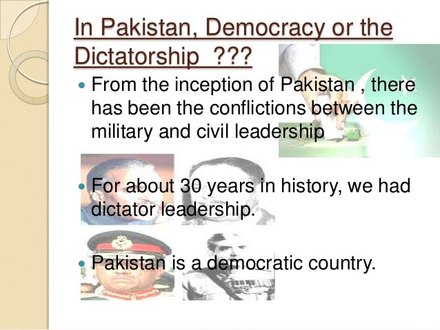 a discussion on democracy and dictatorship Css forums  general  discussion: democracy vs dictatorship for pakistan  we believe worst form of democracy is better than dictatorshipwe have almost forty.