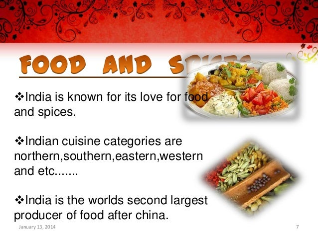 Indian Food Culture Presentation