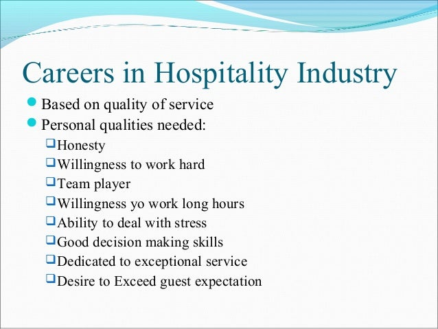 overview of the hospitality industry