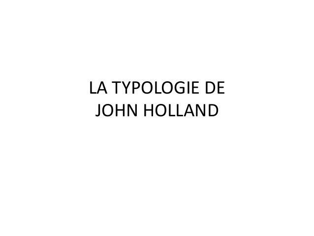 LA TYPOLOGIE DE JOHN HOLLAND