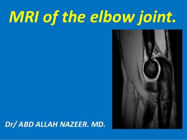 Presentation1pptx Mri Of Elbow Joint