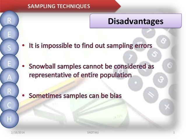 Quota sampling advantages and disadvantages